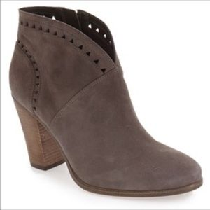 Vince Camuto Gray Suede Fritan Ankle Booties